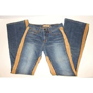 RARE BEBE JEANS womens 29x34 Western cowgirl Rodeo